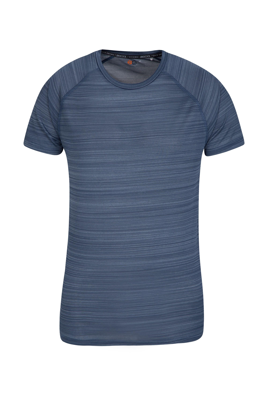 Endurance Striped Mens T-Shirt - Blue