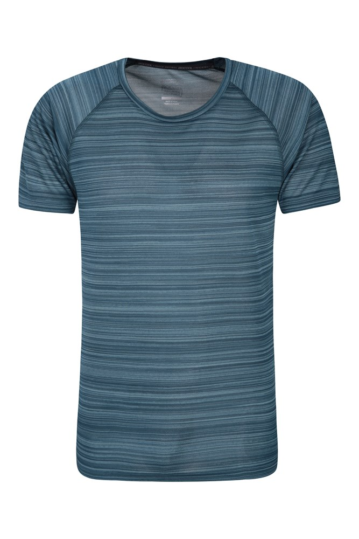 Endurance Striped Mens T-Shirt - Dark Grey