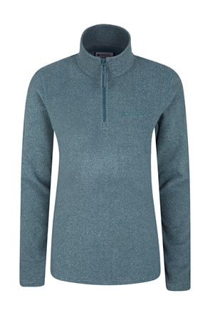 Hebridean Stripe Melange Womens Halfzip Fleece