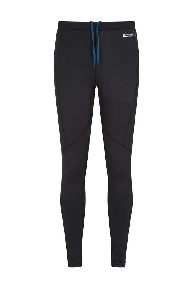 Winter Sprint II Mens Full Length Tights - Black