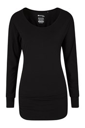 Ruched & Ready Womens Long Sleeved Top