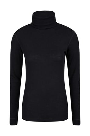 Merino Womens Roll Neck Top