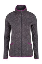 Idris Full-Zip Herringbone Womens Fleece