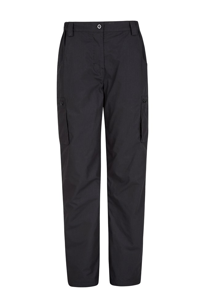 Winter Trek II Womens Short Length Trousers - Black