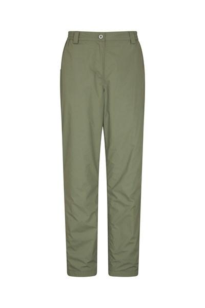 Winter Trek II Womens Short Length Trousers - Green
