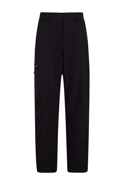 Womens Hike 4-Way-Stretch Warm Trousers - Short length - Black
