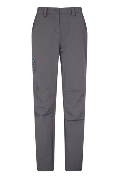 Womens Hike 4-Way-Stretch Warm Trousers - Short length - Grey