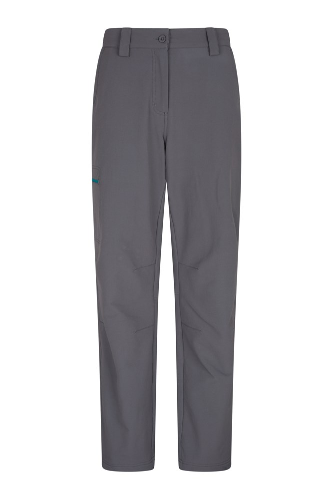 Womens Hike 4-Way-Stretch Warm Trousers - Short length - Grey