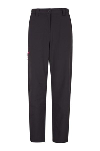 Womens Hike 4-Way-Stretch Warm Trousers - Black