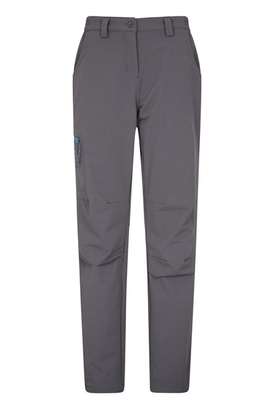 Womens Hike 4-Way-Stretch Warm Trousers - Grey
