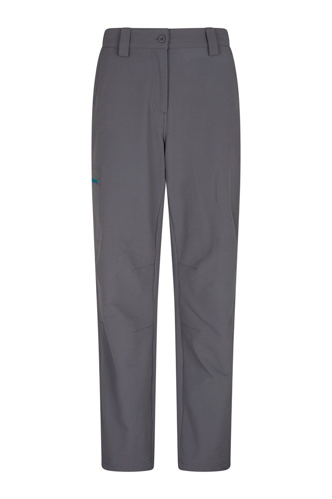 Womens Hike 4-Way-Stretch Warm Trousers - Grey
