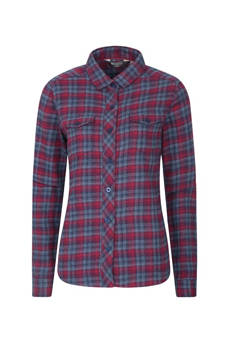 025480 WILLOW BRUSHED FLANNEL LS WOMENS SHIRT
