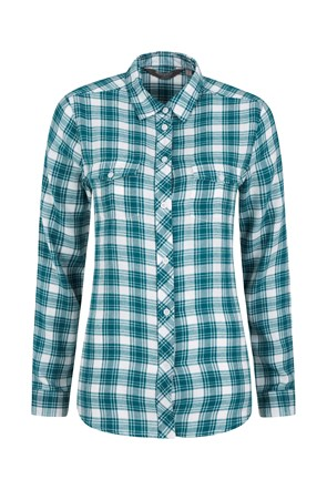Willow Brushed Flannel Womens Shirt