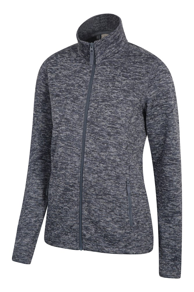 Idris Womens Full Zip Womens Fleece - Grey