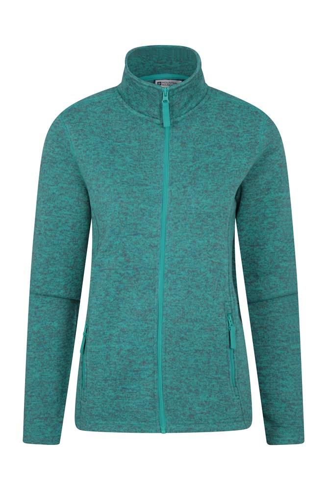 Idris Womens Full Zip Womens Fleece - Turquoise