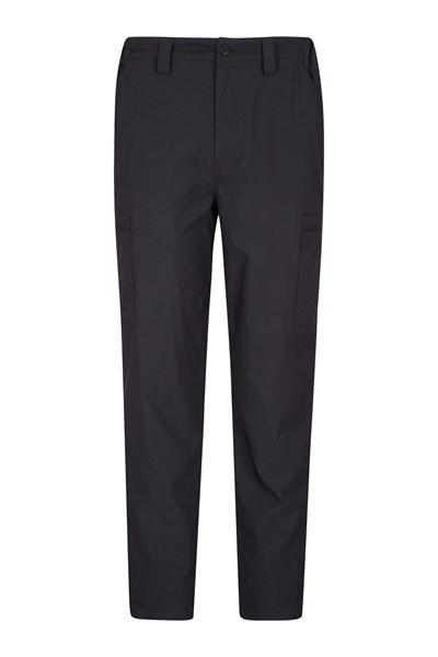 Mens Winter Trek Stretch Trousers - Short Length - Black