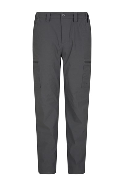 Mens Winter Trek Stretch Trousers - Short Length - Grey