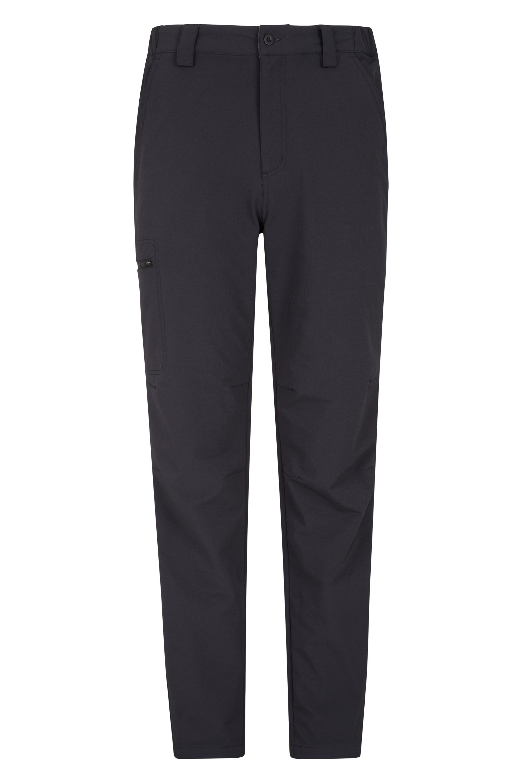 Hike 4-Way-Stretch Mens Warm Trousers - Black