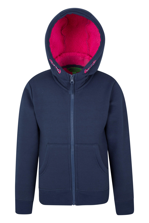 025503 nav alpine fur lined full zip hoody kid aw17 1