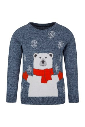 Polar Bear Knitted Kids Jumper