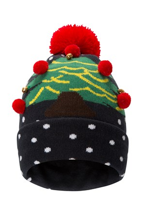 Spot Christmas Tree Womens Beanie