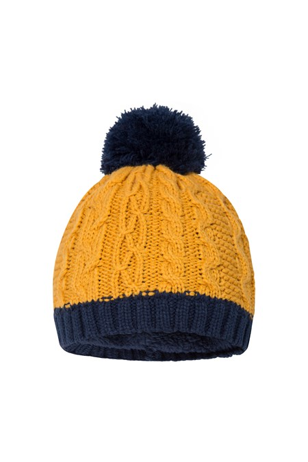 025536 TWO TONE FLEECE LINED KIDS BEANIE