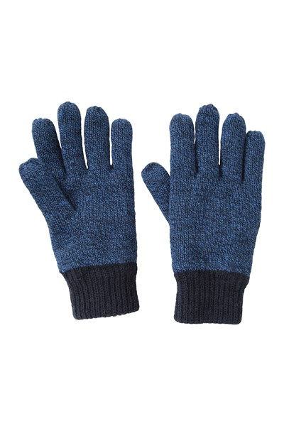 Kids Two-Tone Melange Thinsulate™ Gloves - Navy