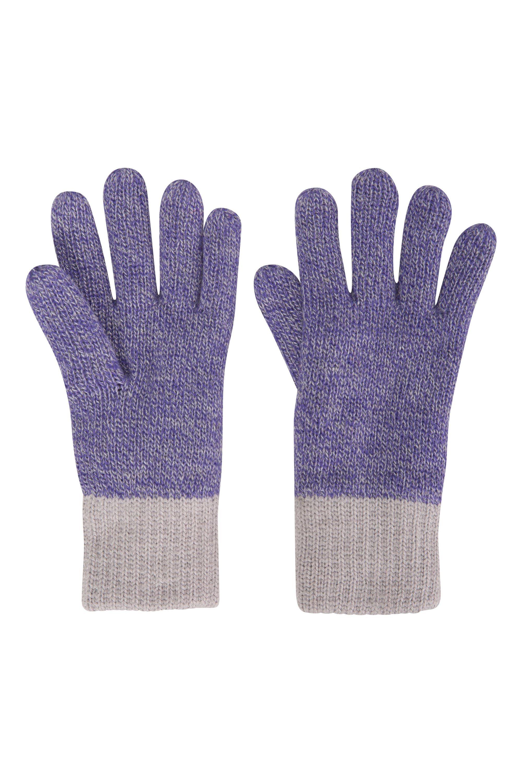 Kids Two-Tone Melange Thinsulate™ Gloves - Purple