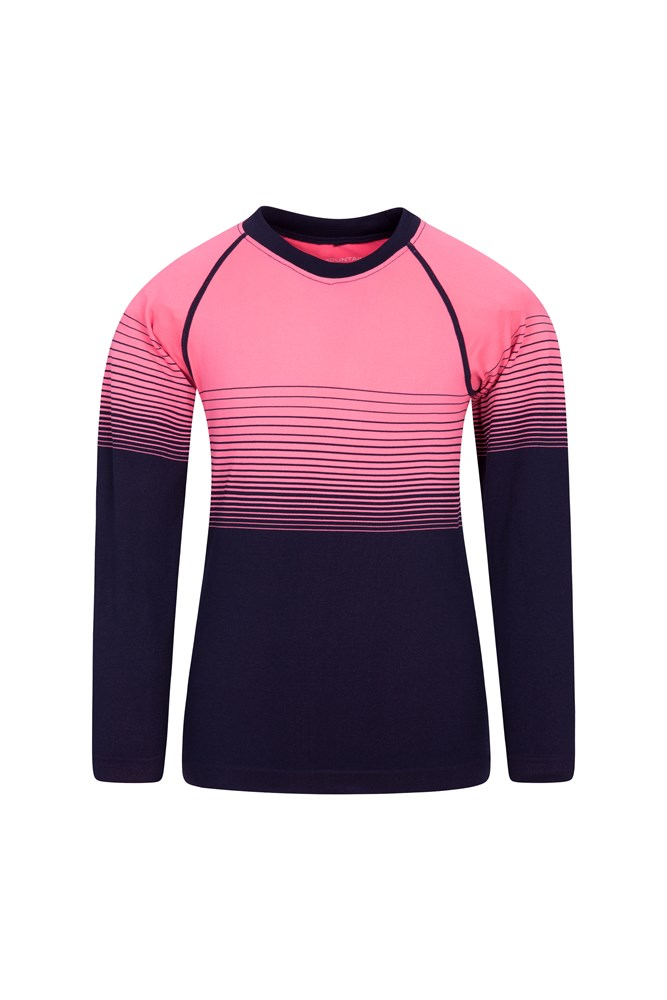 Seamless Kids Base Layer Top - Pink