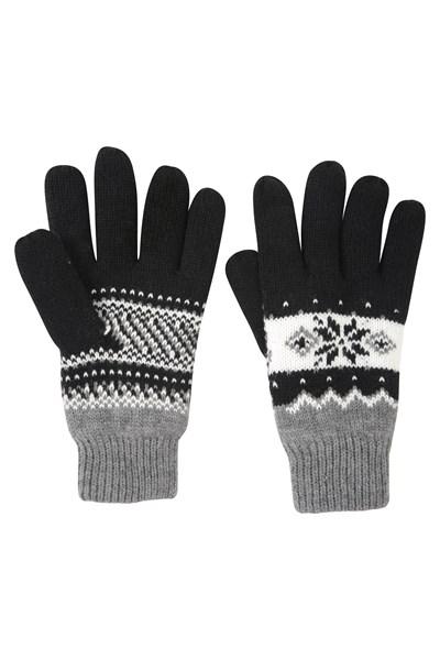 Thinsulate Fairisle Womens Gloves - Black