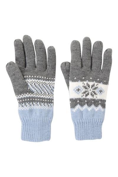 Thinsulate Fairisle Womens Gloves - Grey