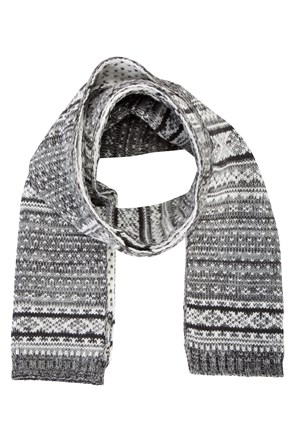 Fairisle Mens Scarf