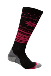 Polar Patterned Womens Technical Ski Socks