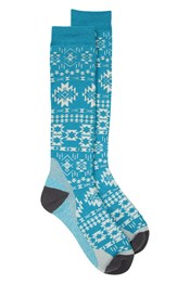 Polar Technical Gemusterte Ski-Socken