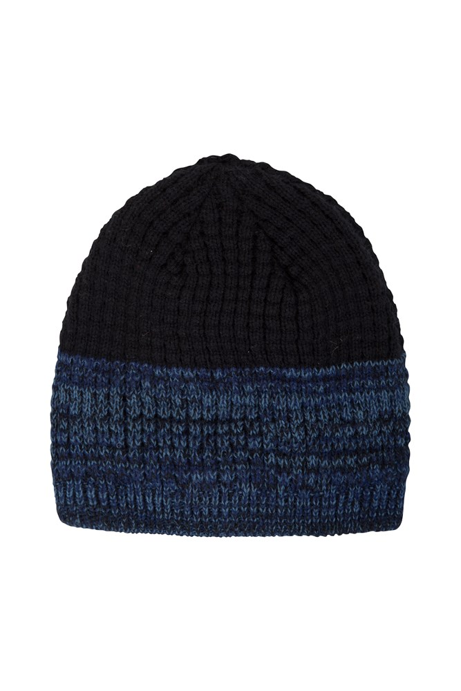 Rubix Lined Beanie - Navy