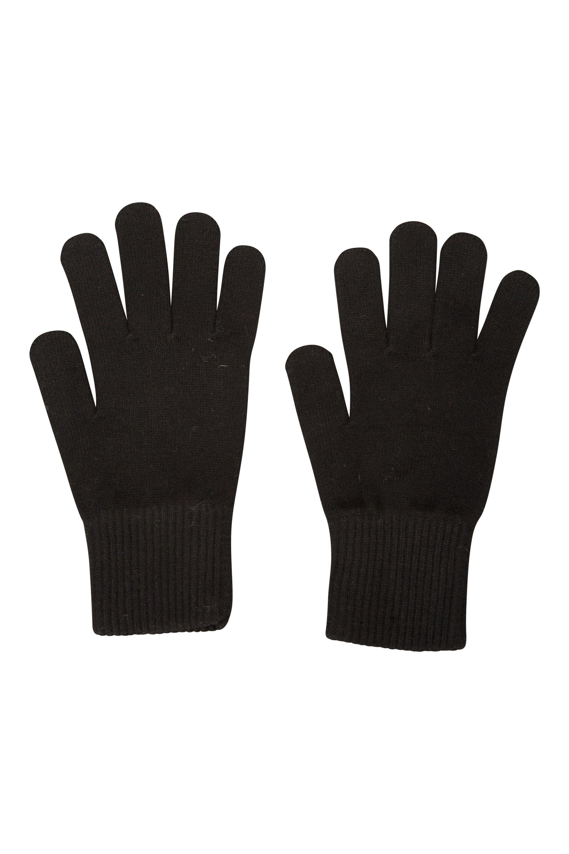 Everyday Knitted Mens Gloves - Black