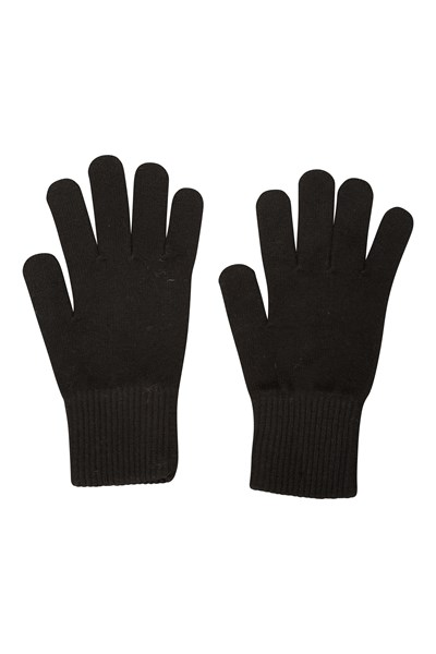 Everyday Knitted Mens Gloves - Black