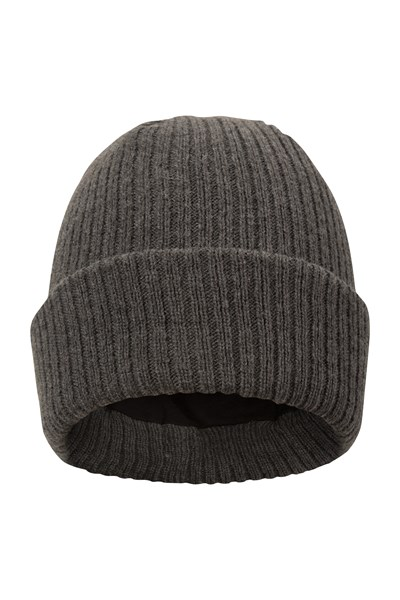 Thinsulate Knitted Mens Beanie - Grey