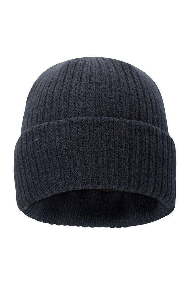 Thinsulate Knitted Mens Beanie - Navy