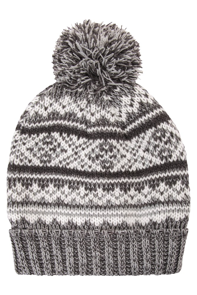 Microfleece Acrylic Mountain Warehouse Thinsulate Fairisle Mens Beanie Hat