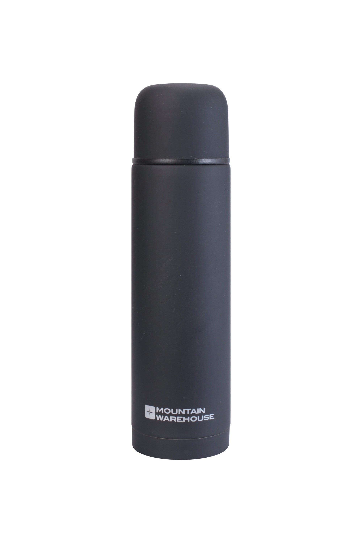 Mountain Warehouse Gummierte Doppelwandige Thermosflasche – 500ml schwarz | 05052776759489
