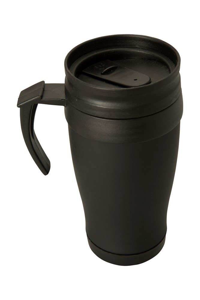 Rubber Feel Travel Mug With Handle 420ml Mountain Warehouse Au