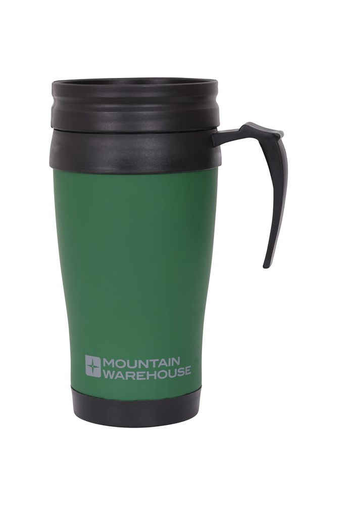 Mountain Warehouse Rubber Feel Travel Mug With Handle And Double Walled 420 Ml Ebay