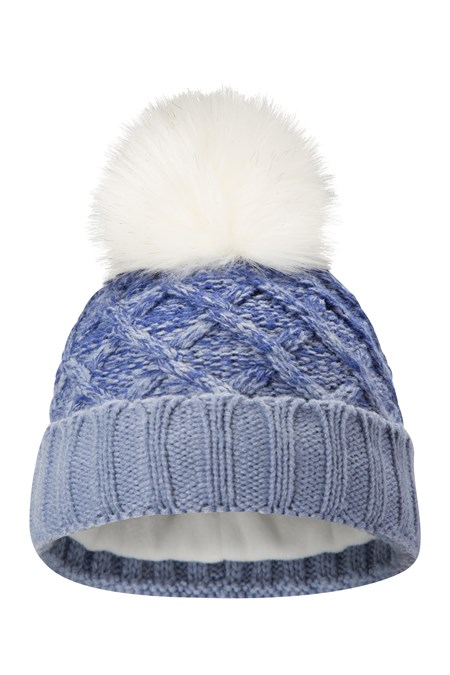 025682 THINSULATE CABLE WOMENS POM BEANIE