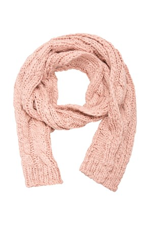 Tahoe Cable Knit Womens Scarf