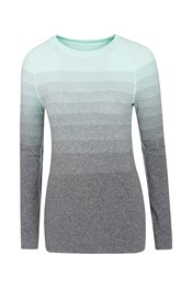Blizzard Ombre Striped Womens Baselayer Top