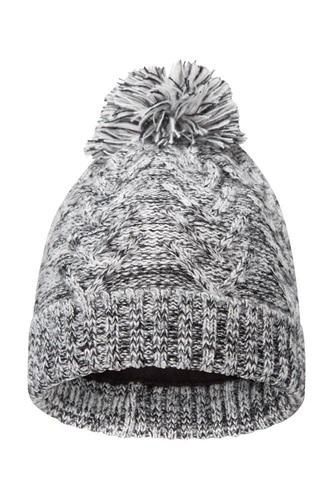 18cece1065c Thinsulate Womens Cable Knit Beanie - Black