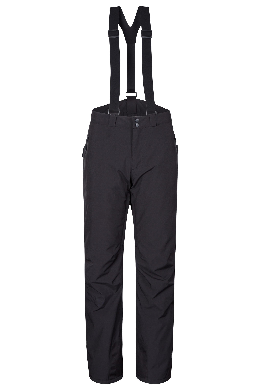 Orbit Mens 4-Way-Stretch Ski Pants - Short Length - Black