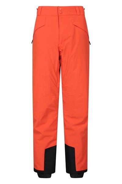 Orbit Mens 4-Way-Stretch Ski Pants - Short Length - Orange