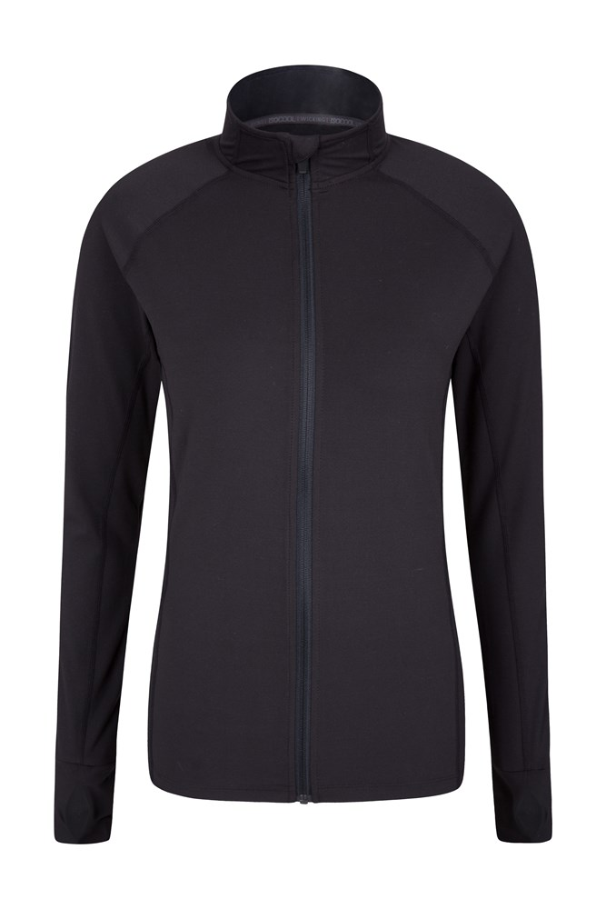 Soft Touch Womens Full-Zip Midlayer - Black